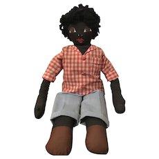 Vintage Black Americana Handmade Male Doll