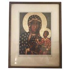 Vintage Print The Black Madonna