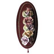 Vintage Capodimonte Porcelain Floral Wall Plaque