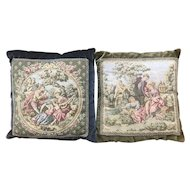 Pair French Tapestry Pillows