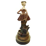 Vintage Italian Figurine Table Lamp