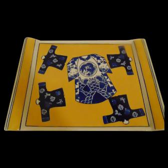 Pair Asian Stoneware Platters