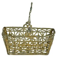 "Large Soft Metal Basket For Flowers, 2 1/2"" long"