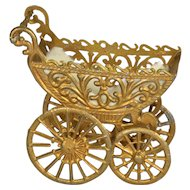 "German Soft Metal Large Baby Carriage, 3 1/4"" long"