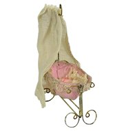 Antique Baby Bassinet, with Baby