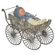Soft Metal Carriage With Baby