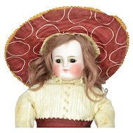 "German Bisque Shoulder Head, 19"" Tall"