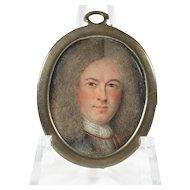 Portrait Miniature Of Gentleman in Armor, Flemish, 1714