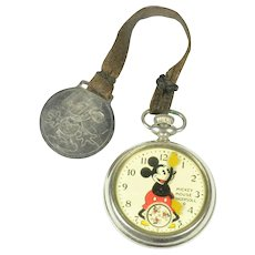 Mickey Mouse Pocket Watch by Ingersoll, ca. 1930's