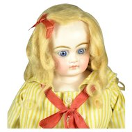 "German Bisque Shoulder Head Doll, Ex, 16"" tall, Ca. 1880"