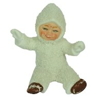 Sitting Snow Baby, German, All Bisque, 1 7/8