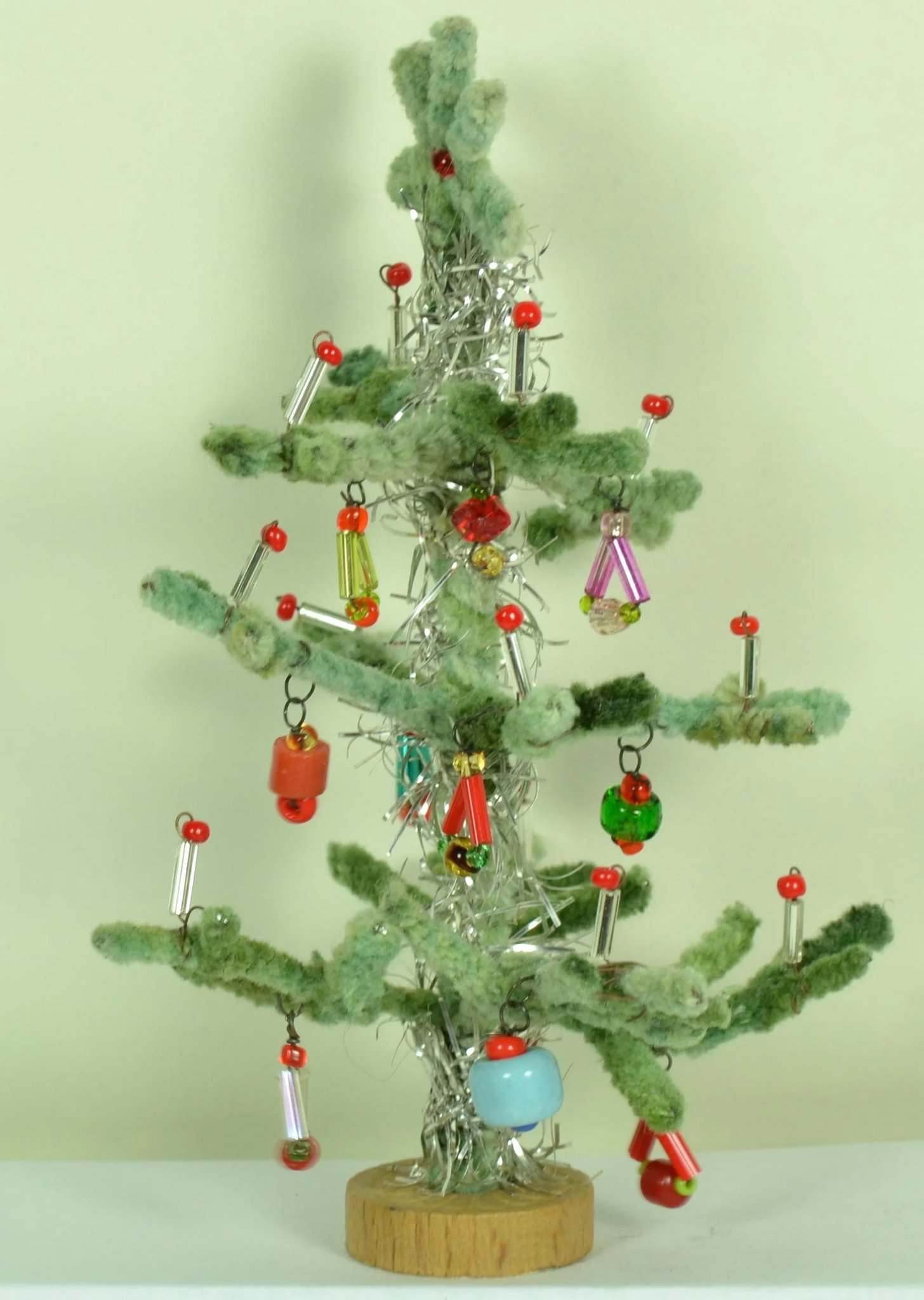 """Small Christmas Tree for Dolls House, 4 7/8"""" tall : C. Rabel Art and Antiques 