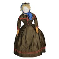 "German Fashion-Type Doll, 16 1/2"" tall"