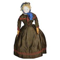 "German Fashion-Type Doll, 16 1/2"" tall"