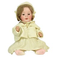 German Bisque Head Character Baby,