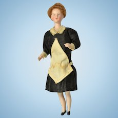 """German Bisque Doll House Maid, 5 3/4"""" tall"""