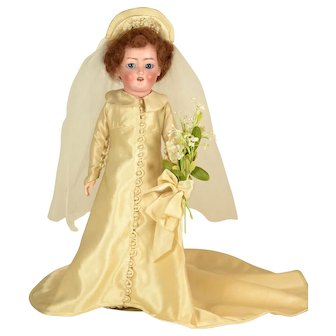 """Lady Bride Doll, S & H #1159, 13 1/2"""" tall"""