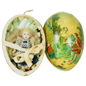All Bisque Kestner Doll In German Egg