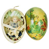 SALE!  All Bisque Kestner Doll In German Egg