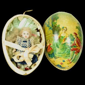 SALE!  All Bisque Kestner Doll In German Egg