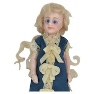 "Slender German All-Bisque Doll, 4 1/2"" Tall, Swivel Neck"