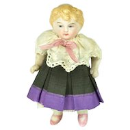 "All Bisque Girl, 3 1/2"" tall"