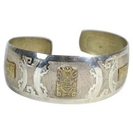 Silver and Gold Bracelet From Peru, Ca. 1950's