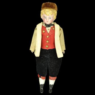 "German Bisque Head Boy A/O, 7"" tall"