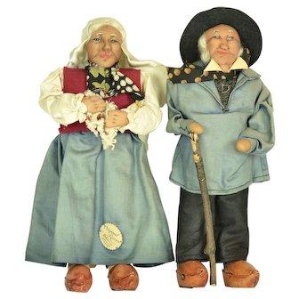 "Ravca Peasant Couple, 10"" tall"