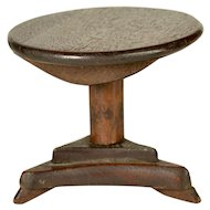 "Antique Round Tilt Top Table for Dolls 10"" and Under"