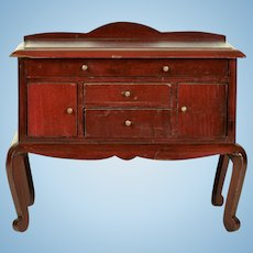 Mahogany Buffet For Larger Dolls