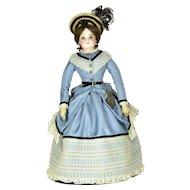 "F. G. Fashion Lady, 15"" tall, ca. 1870"