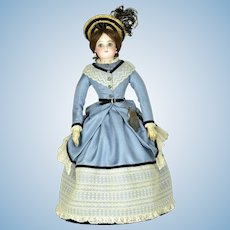 "F. G. Fashion Lady, 15"" tall, ca. 1870"