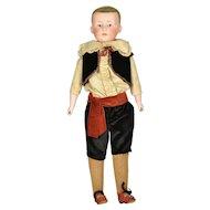 """Boy Doll by Gebruder Heubach, 15"""" tall, A/O"""