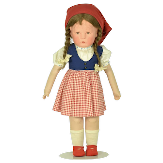 "Kathe Kruse Doll 1H, US Zone, A/O, 18"" tall"