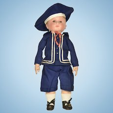 "Martha Chase Boy Doll, 16"" tall"