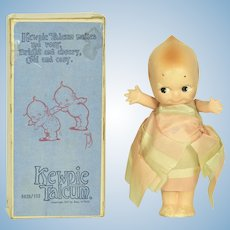"Kewpie Talcum Container w/ Box, 7""tall, A/O"