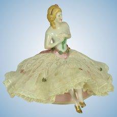 """Pincushion Doll with Legs,  6 1/2"""" tall"""