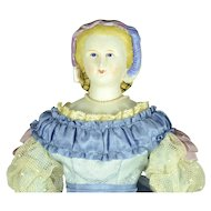 "Parian Head Empress Eugenie, 1870, 17"" tall"