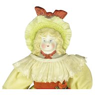 "Bonnet Doll with Fancy Hat, 17"" tall"