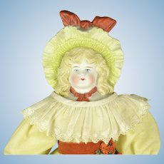 "Bonnet Doll with Fancy Hat, 17"" tall"