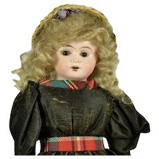 "German Bisque Shoulder Head Doll, 12"" tall, A/O"