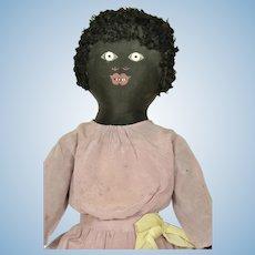 "Black Cloth Doll, 24 1/2"" tall, A/O, 1910"
