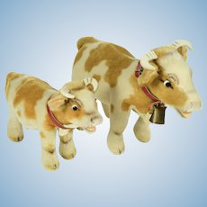2 Steiff Bessy Cows, A/O, 1970's