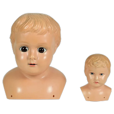 2 Celluloid Doll Heads, Germany, 1900-on