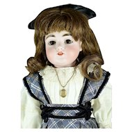 "Kestner #154 Bisque Head Doll, 19 1/2"" tall, ca. 1892"