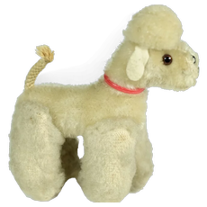 Wool Poodle Dog Companion for Doll