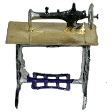 Metal Sewing Machine for Doll House