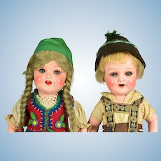 """Character Painted Bisque Toddlers # 342, Factory Original, 12"""" tall"""