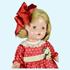 """Petite Toddler Composition Doll by American Character, 13"""" tall"""